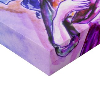 The three fates faux canvas print
