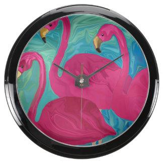 The Three Flamigos Aquarium Clocks