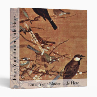 The Three Friends And A Hundred Birds By Pien 3 Ring Binder