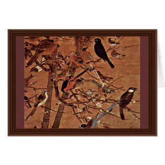 The Three Friends And A Hundred Birds By Pien Cards