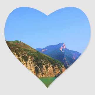 The Three Gorges, China Heart Sticker