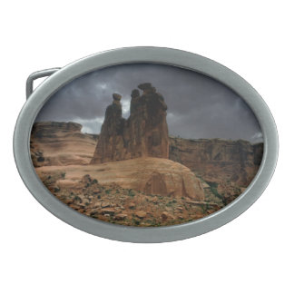 The Three Gossips Arches National Park Oval Belt Buckle
