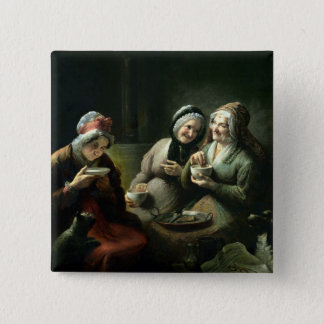The Three Gossips Pinback Button