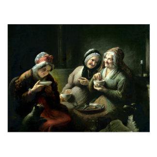 The Three Gossips Postcard