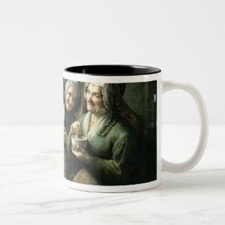 The Three Gossips Two-Tone Coffee Mug