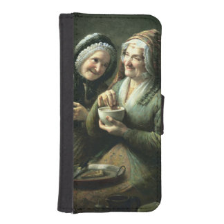The Three Gossips Wallet Phone Case For iPhone SE/5/5s