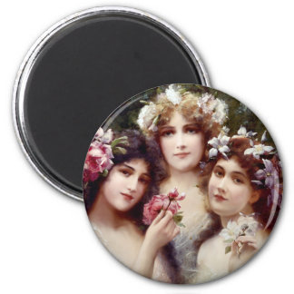 The Three Graces 2 Inch Round Magnet