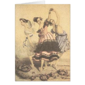 The Three Graces Ballerinas, Greeting Card