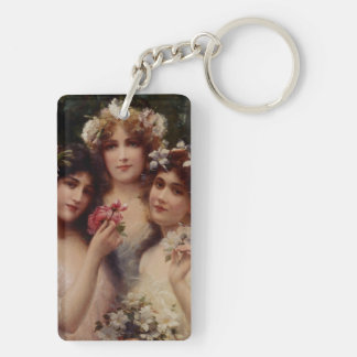 The Three Graces by Emile Vernon Keychain