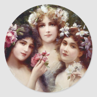 The Three Graces Classic Round Sticker