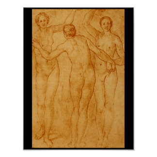 The Three Graces', Jacopo'_Studies of the Masters Poster