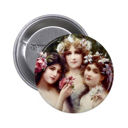 The Three Graces Pinback Button