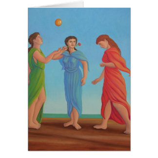 The Three Graces, Relaxing Greeting Card