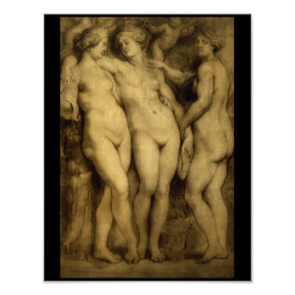The Three Graces'_Studies of the Masters Poster