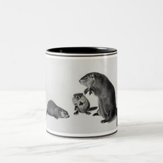The Three Groundhogs Two-Tone Coffee Mug