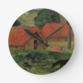 The Three Huts, Tahiti, 1891-92 (oil on canvas) Round Clock