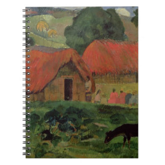The Three Huts, Tahiti, 1891-92 (oil on canvas) Spiral Note Book