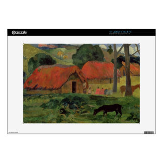 The Three Huts, Tahiti, 1891-92 (oil on canvas) Decals For Laptops