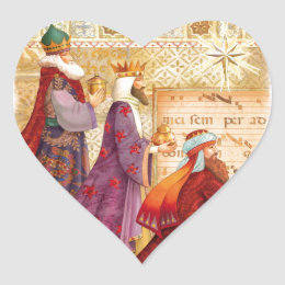 The Three kings Heart Sticker