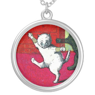 The Three Little Kittens Round Pendant Necklace
