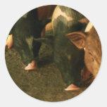 The Three Little Pigs Classic Round Sticker