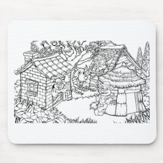The Three Little Pigs Fairytale Mouse Pad