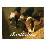 The Three Little Pigs 4.25x5.5 Paper Invitation Card