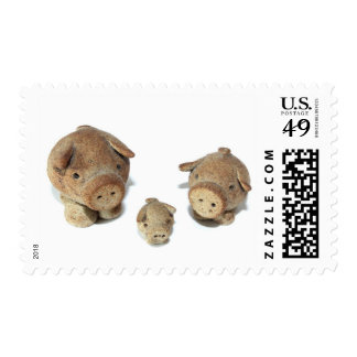 The Three Little Pigs Postage Stamp