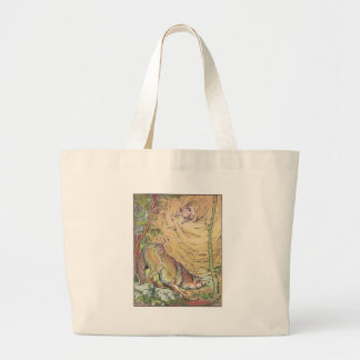 The Three Little Pigs Straw House Fairy Tale 1904 Canvas Bags