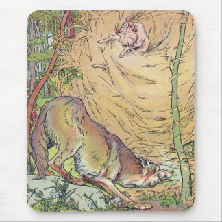 The Three Little Pigs Straw House Fairy Tale 1904 Mouse Pad