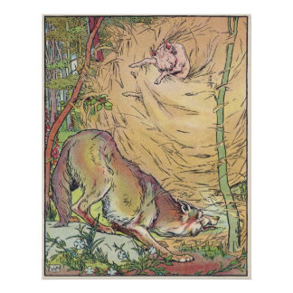 The Three Little Pigs Straw House Fairy Tale 1904 Posters