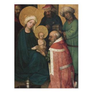 The three Magi adoring Jesus Christ Postcard