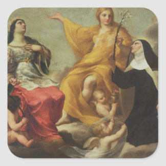 The Three Marys, 1633 (oil on canvas) Square Sticker