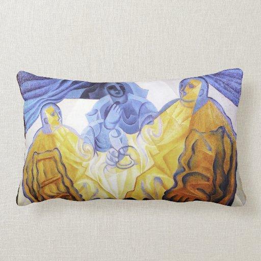 The Three Masks, by Juan Gris Throw Pillows