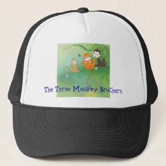 The Three Monkey Brothers Trucker Hat