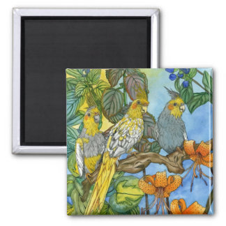 The Three Muskatiels 2 Inch Square Magnet