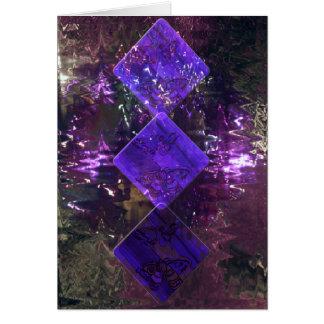 The Three of Diamonds in Purple Card