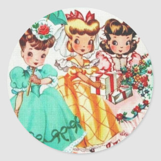 The Three of Us Classic Round Sticker
