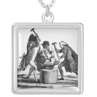 The Three Orders Square Pendant Necklace