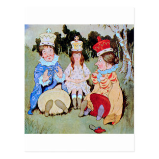 The Three Queens of Wonderland Do Lunch Postcard