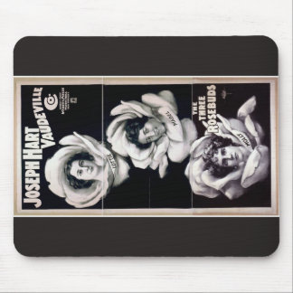The Three Rosebuds, 'Joseph Hart Vaudeville' Mousepads
