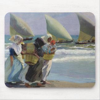 The Three Sails - Joaquin Sorolla Mouse Pad