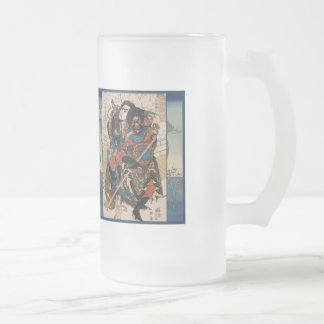 The Three Samurai Frosted Stein