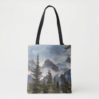 The Three Sisters - Canadian Rocky Mountains Tote Bag