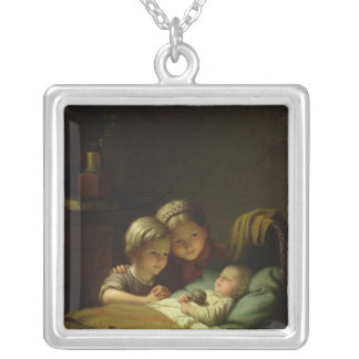 The Three Sisters Square Pendant Necklace
