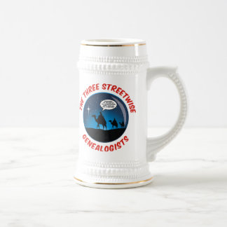 The Three Streetwise Genealogists Beer Stein