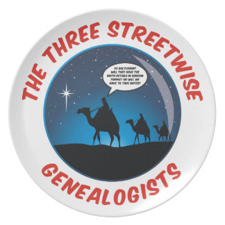 The Three Streetwise Genealogists Dinner Plate