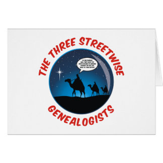 The Three Streetwise Genealogists Greeting Card