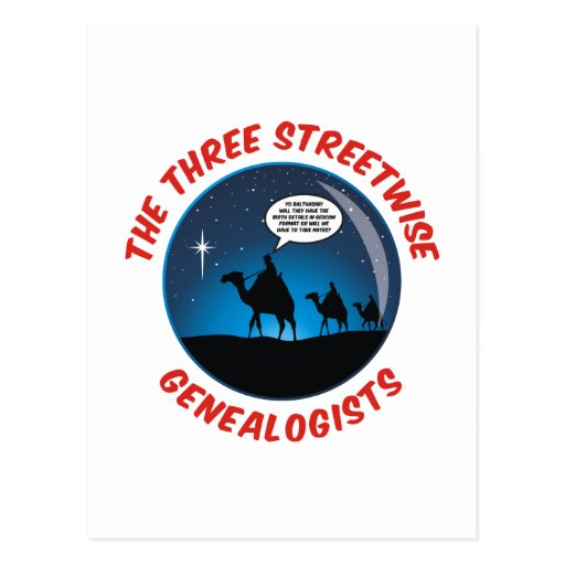 The Three Streetwise Genealogists Post Cards