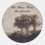 The Three Trees Sticker